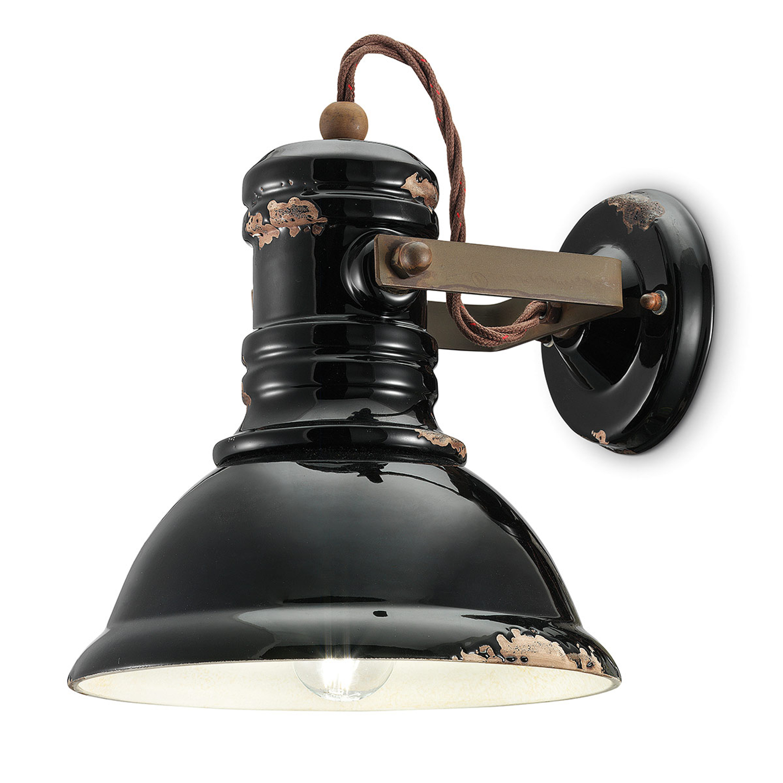 Applique en céramique C1693 style industriel noir