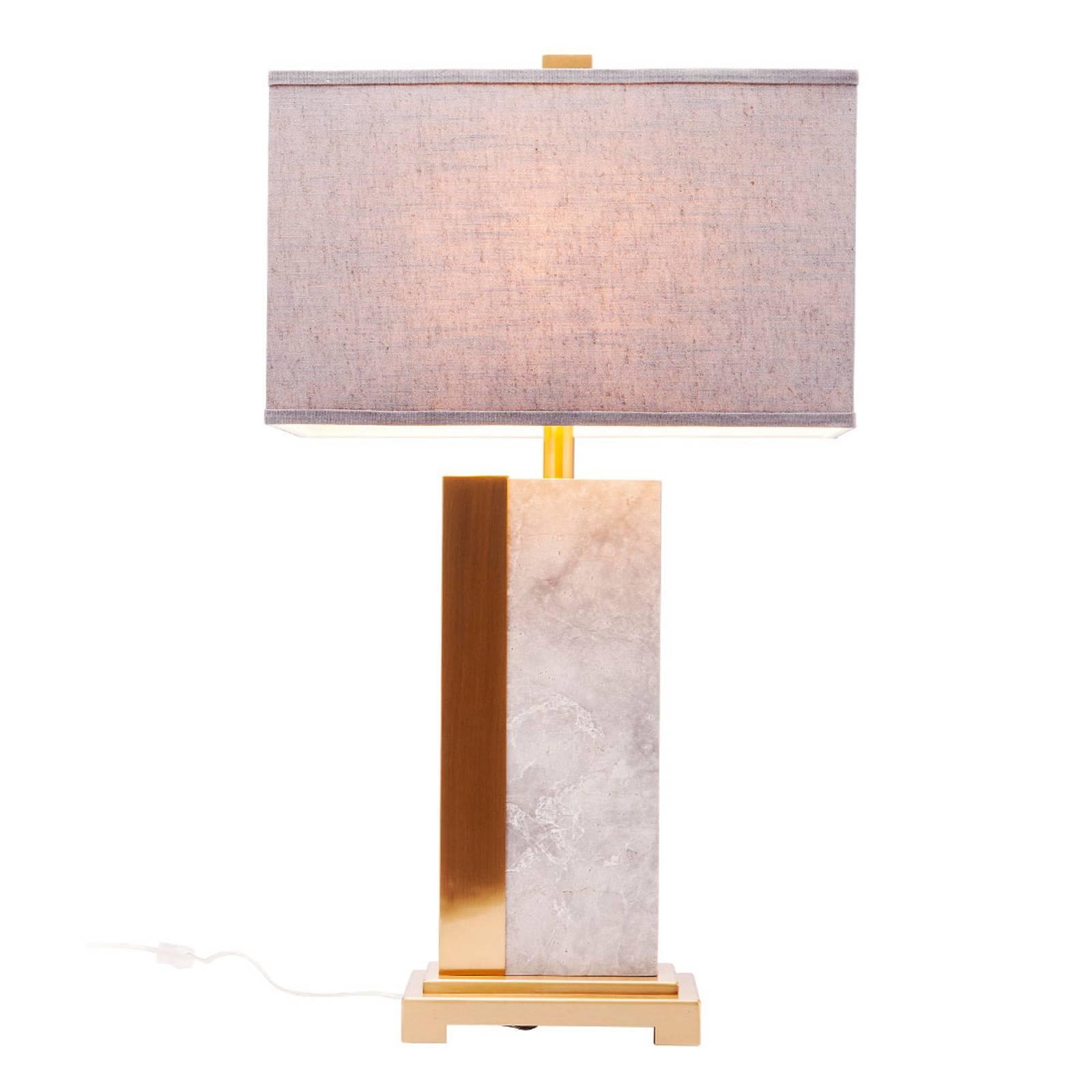 KARE Charleston Marble tafellamp grijs