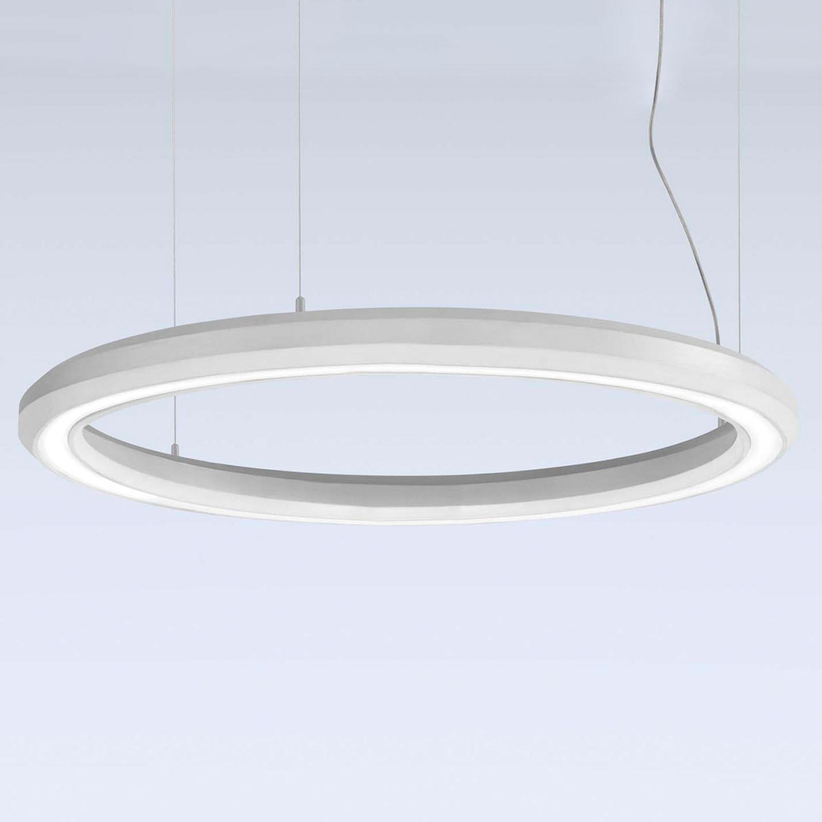 LED-Hängeleuchte Materica unten Ø 90 cm weiß