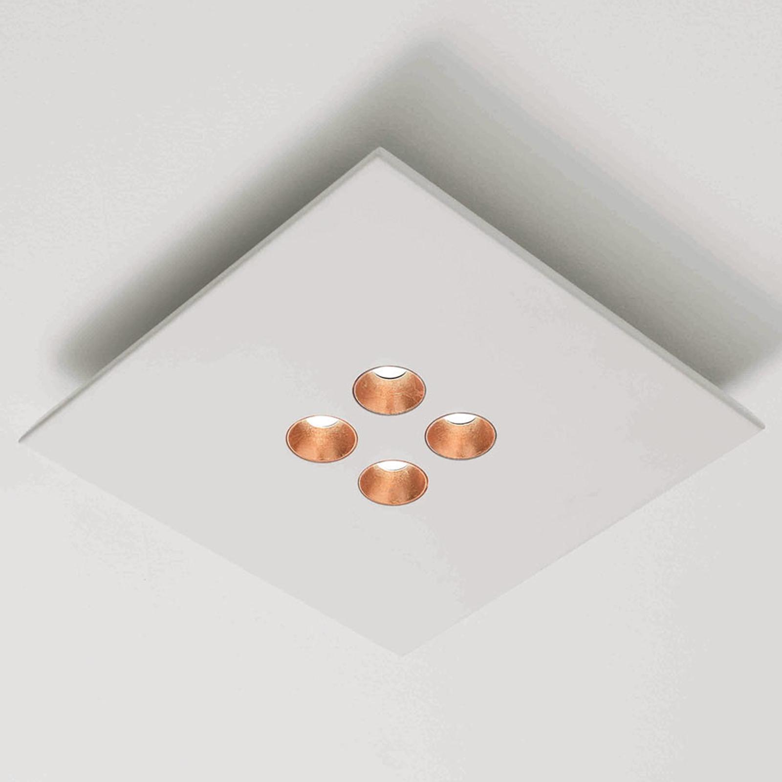 ICONE Confort - lampa sufitowa LED, biała-miedź