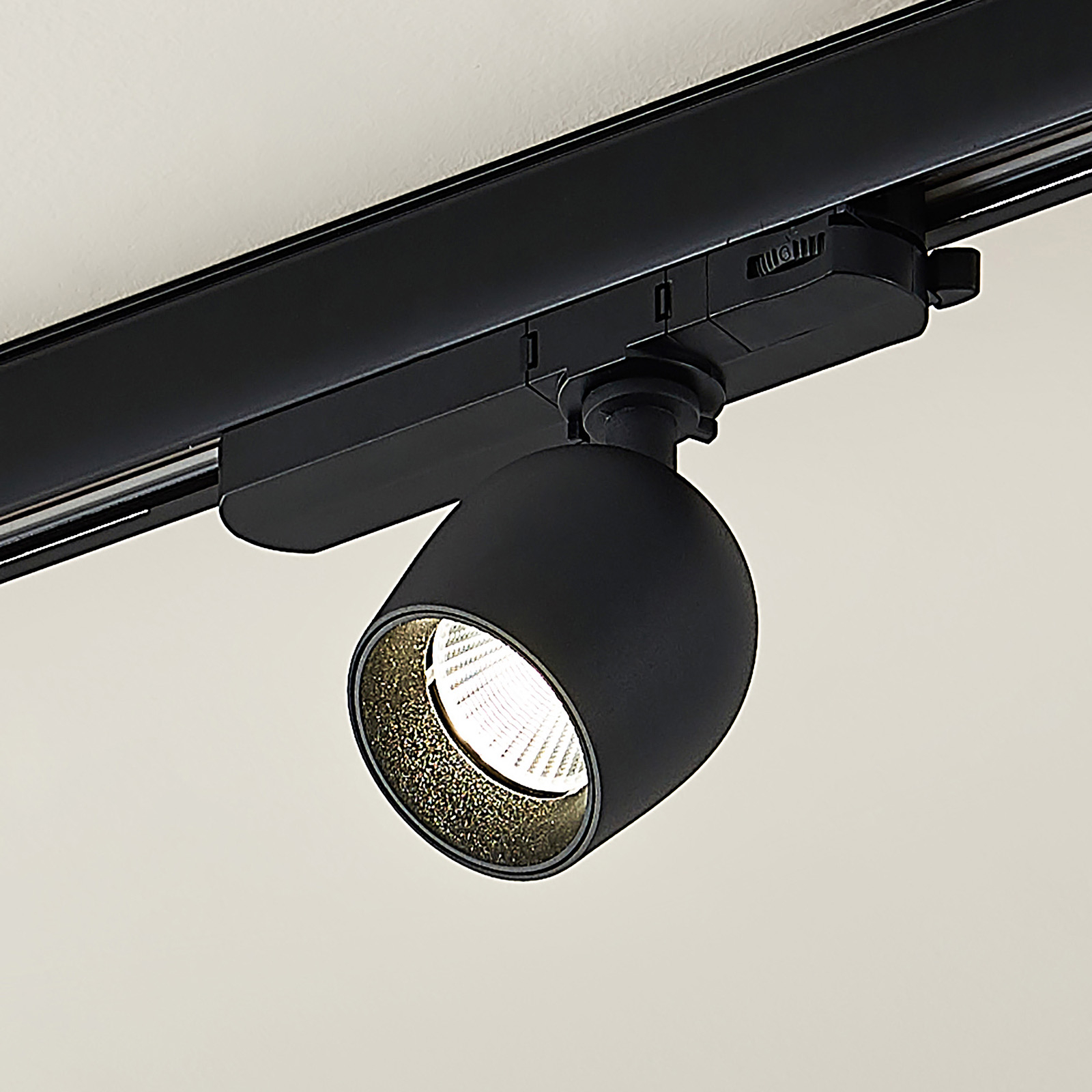 Arcchio Bartu LED-rail-spot, zwart 4.000K