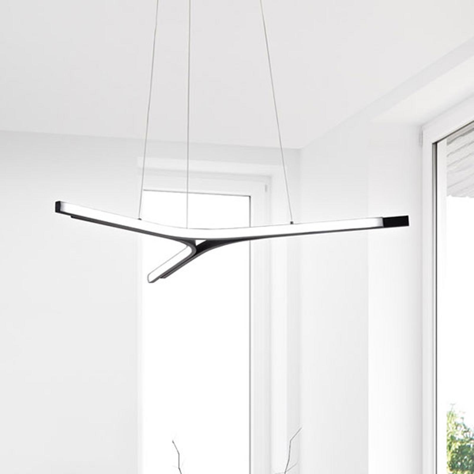 Suspension LED Lira, dimmable, noire