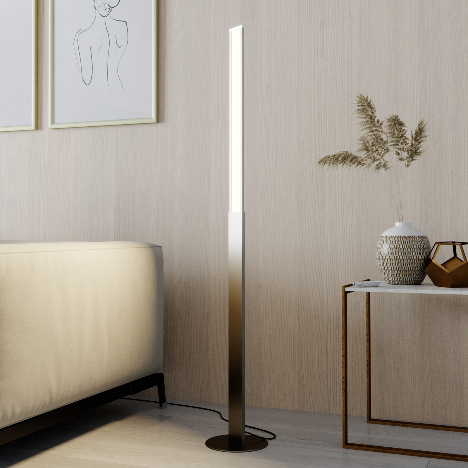 Lindby Smart Ibbe lampadaire LED