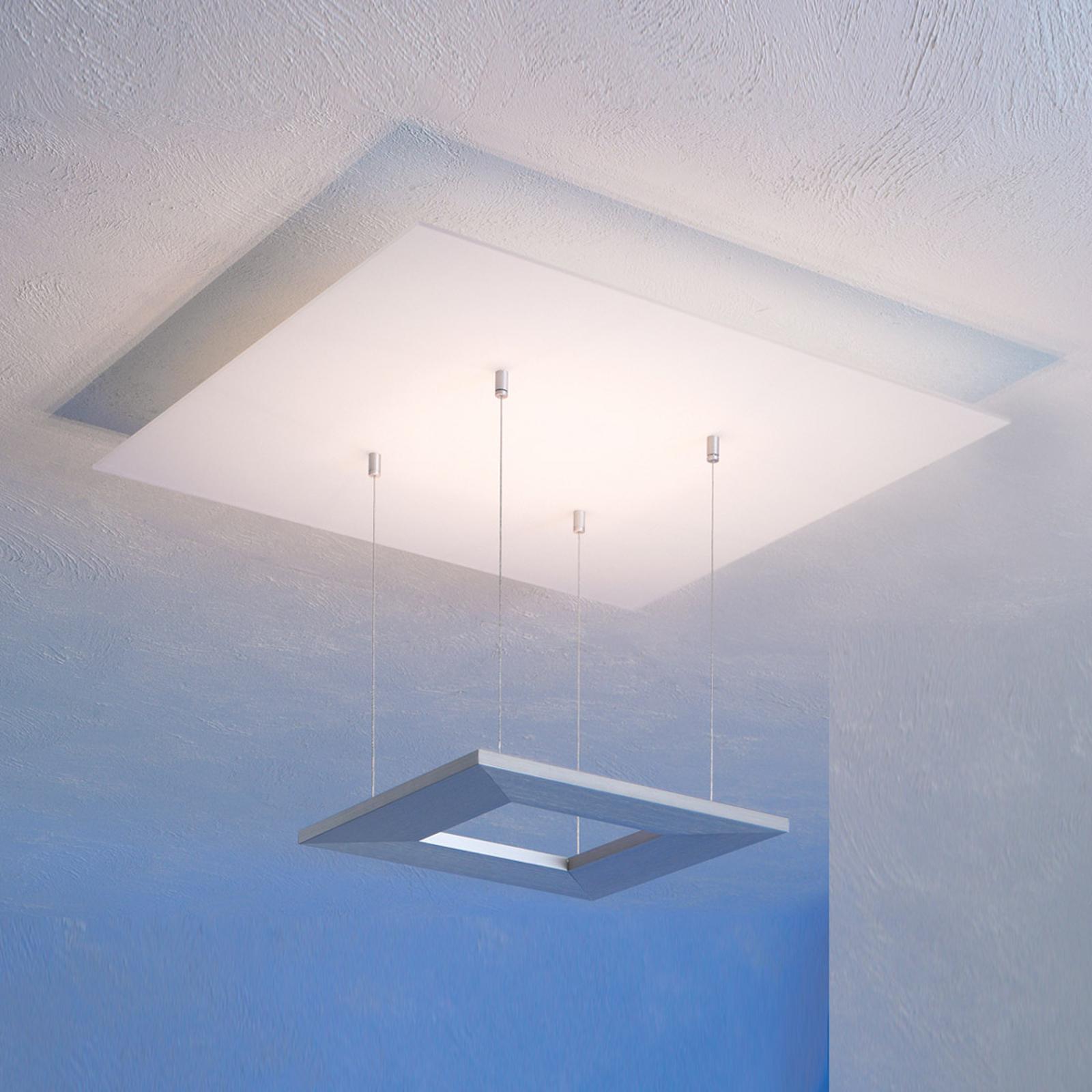 Plafonnier LED Zen Escale, 60cm, alu