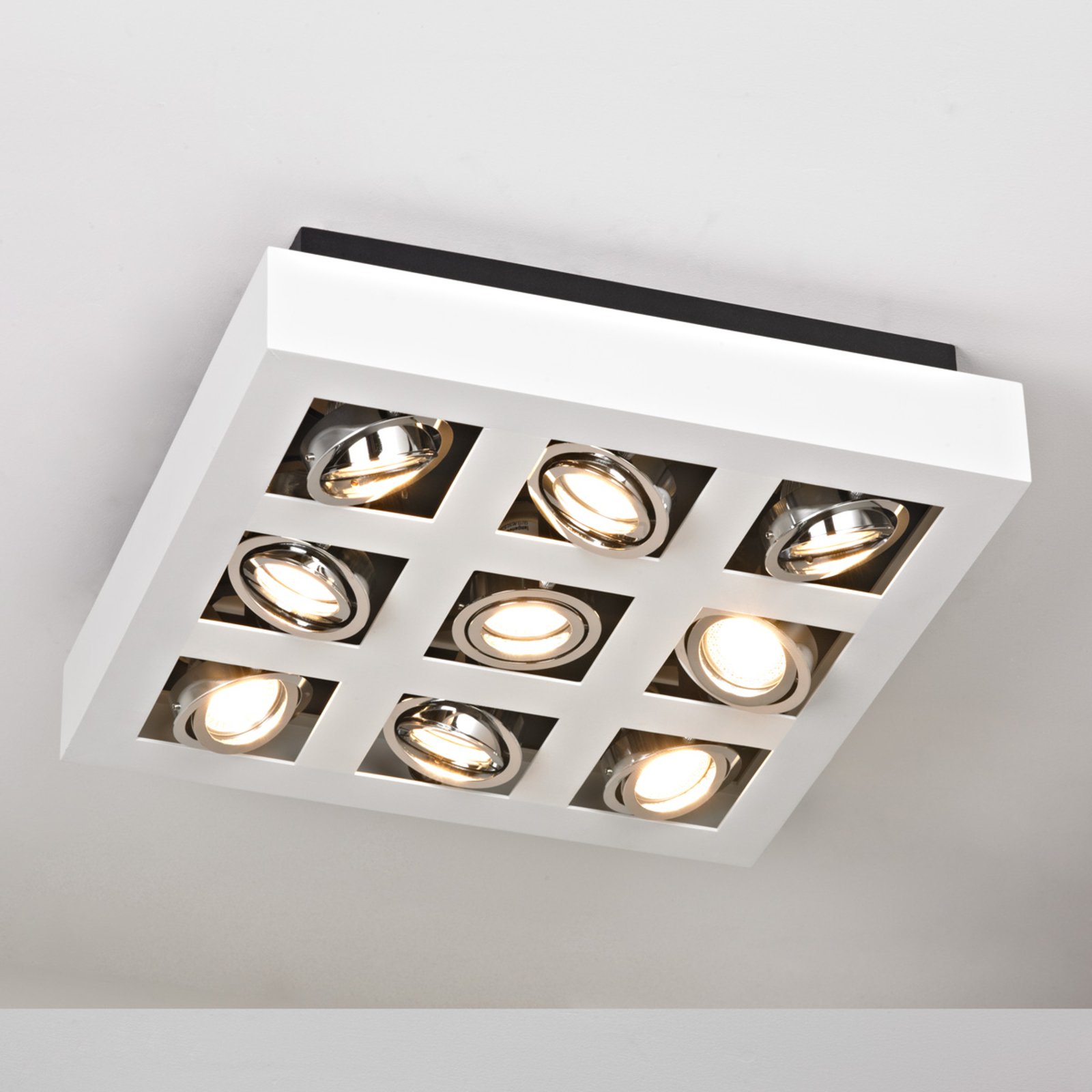 Hell leuchtende LED-Deckenleuchte Vince, 9-flammig