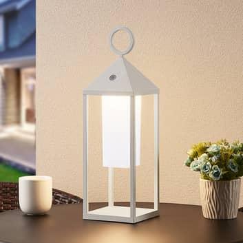 Lucande Miluma lanterna LED esterni, 54 cm, bianco