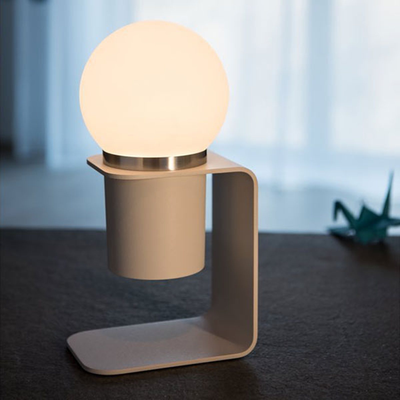 SLV Tonila lampada LED da tavolo bianco/alluminio