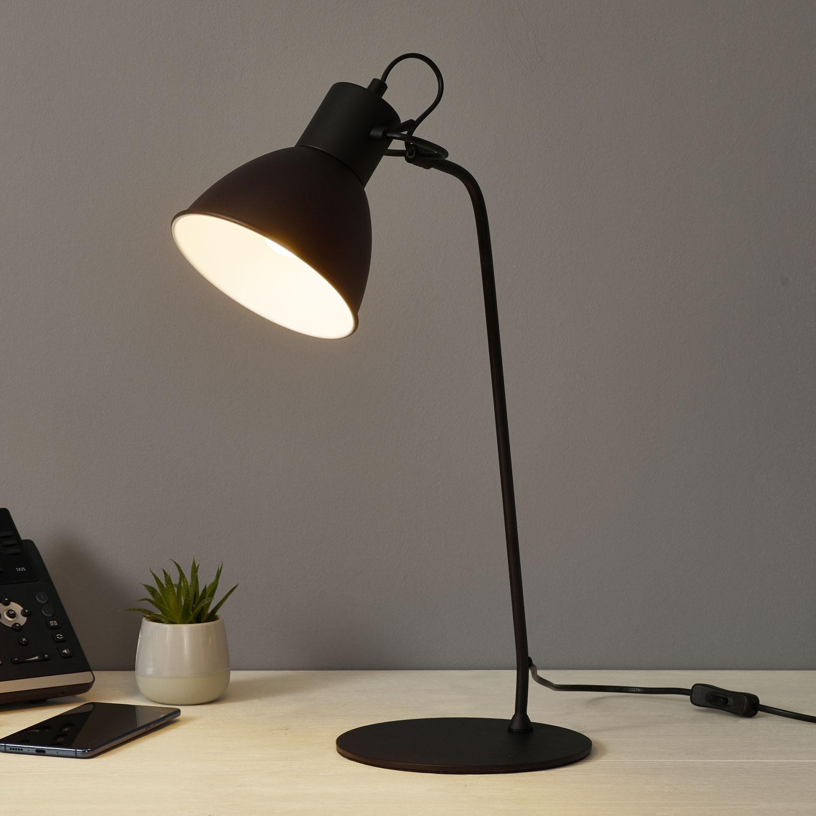 Lampe à poser décorative Shadi en noir