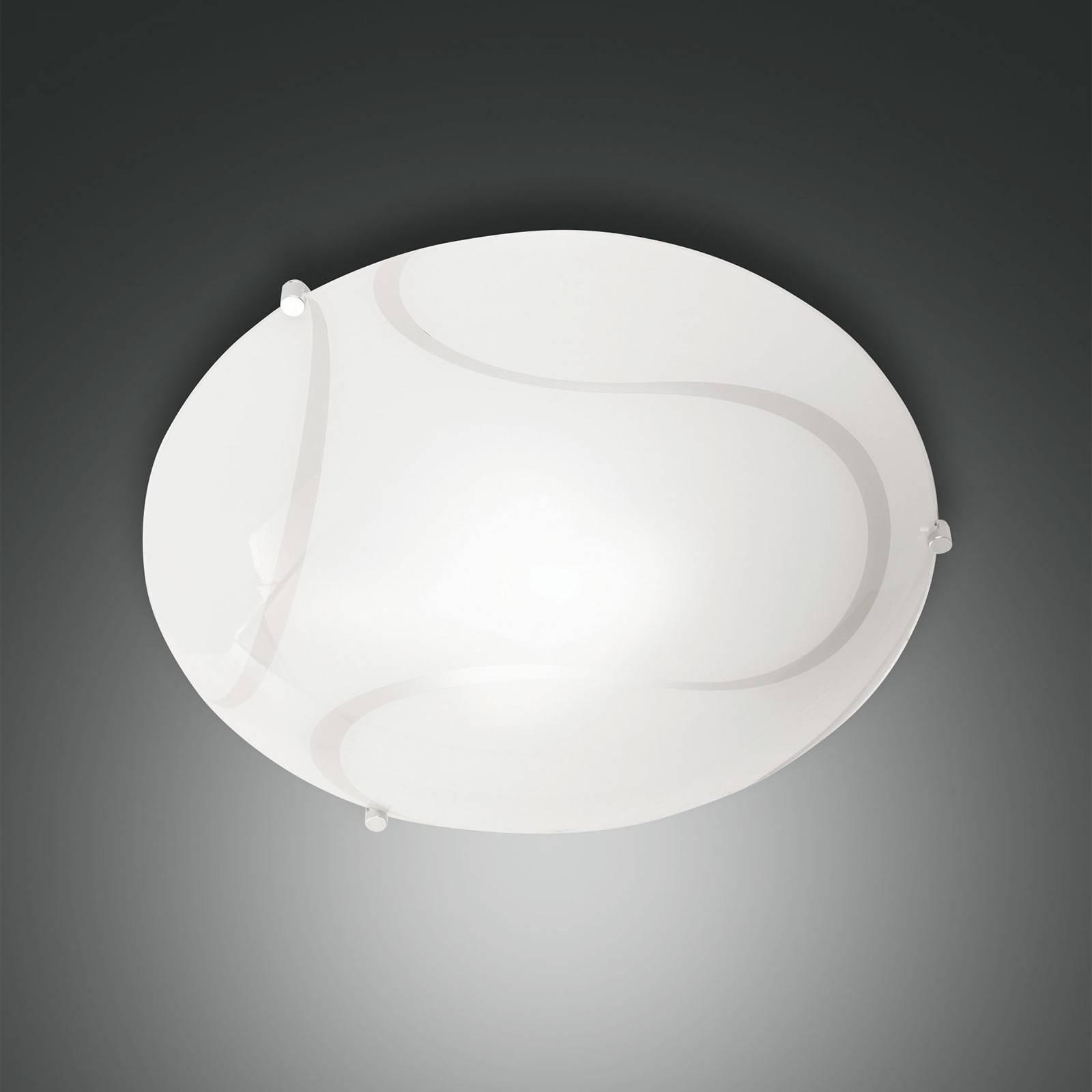 Plafondlamp Magma van glas, 40 cm
