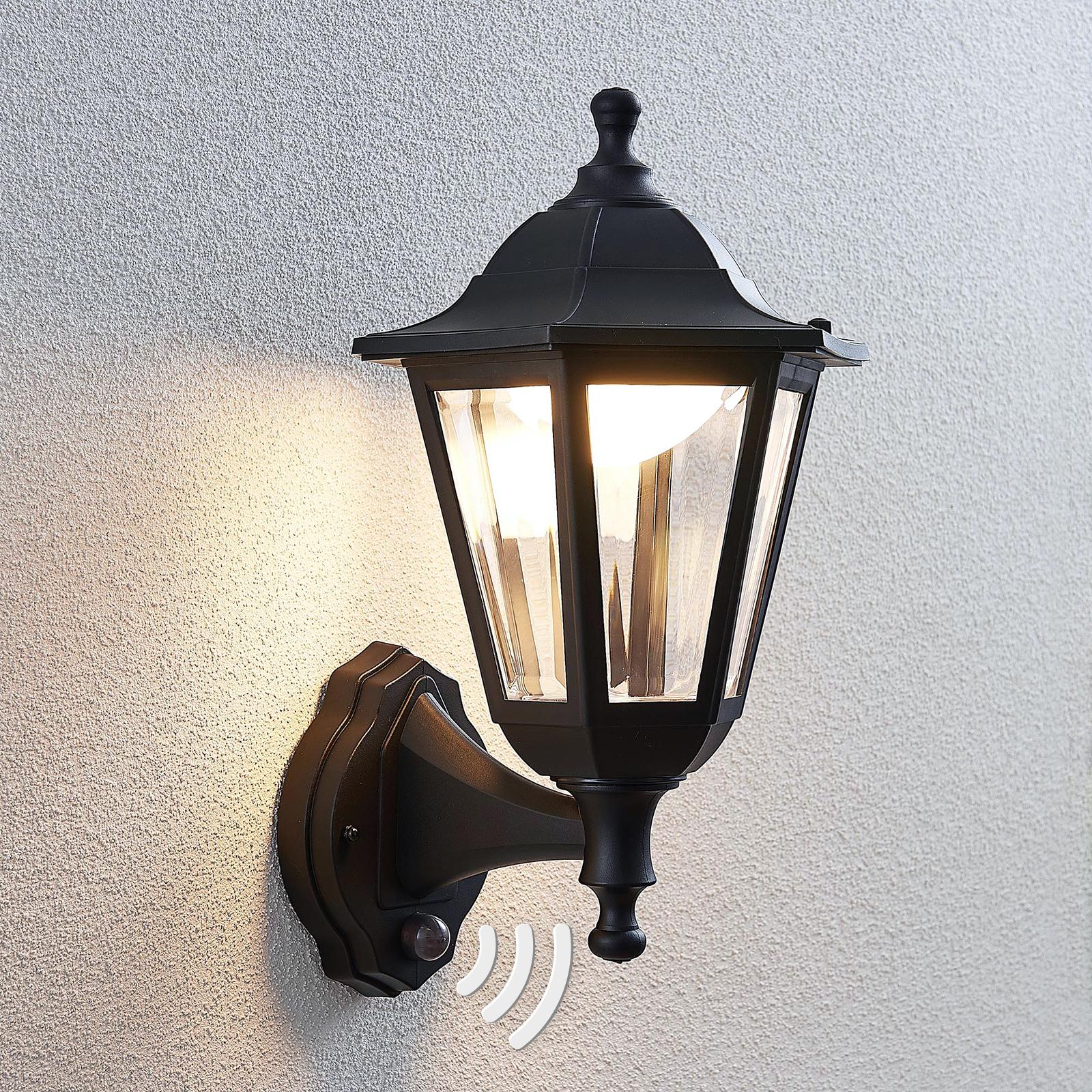 Utendørs LED-vegglampe Iavo med sensor