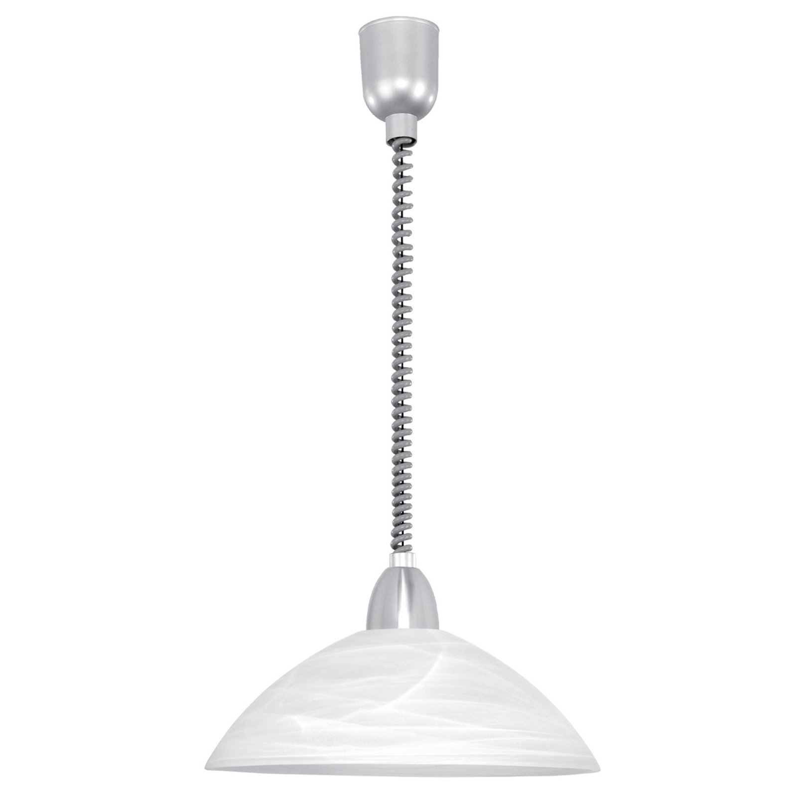 Pratique suspension en albâtre LARA 2, nickel