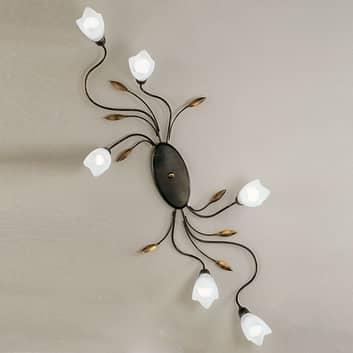 CAMPANA-kattovalaisin kukilla 6 lamppua