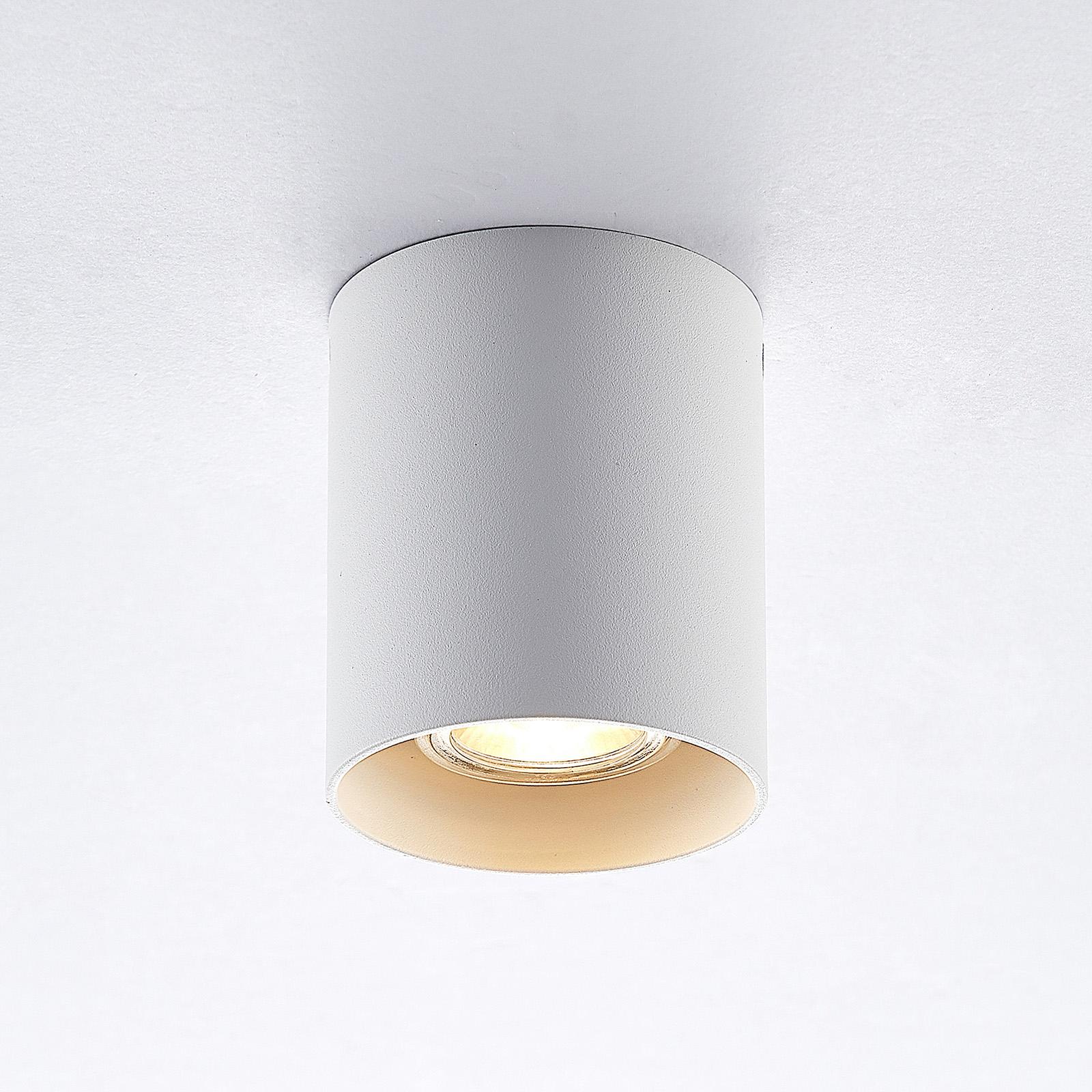 ELC Efey Deckenlampe, GU10, rund, weiß