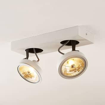 Arcchio Jorvin foco de techo, 2 luces, blanco