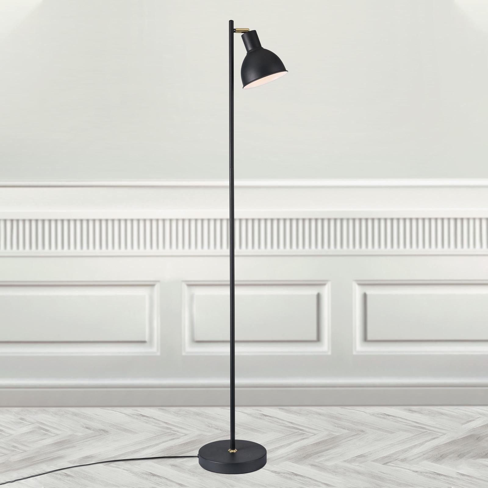 Lampadaire Pop au design délicat, noir
