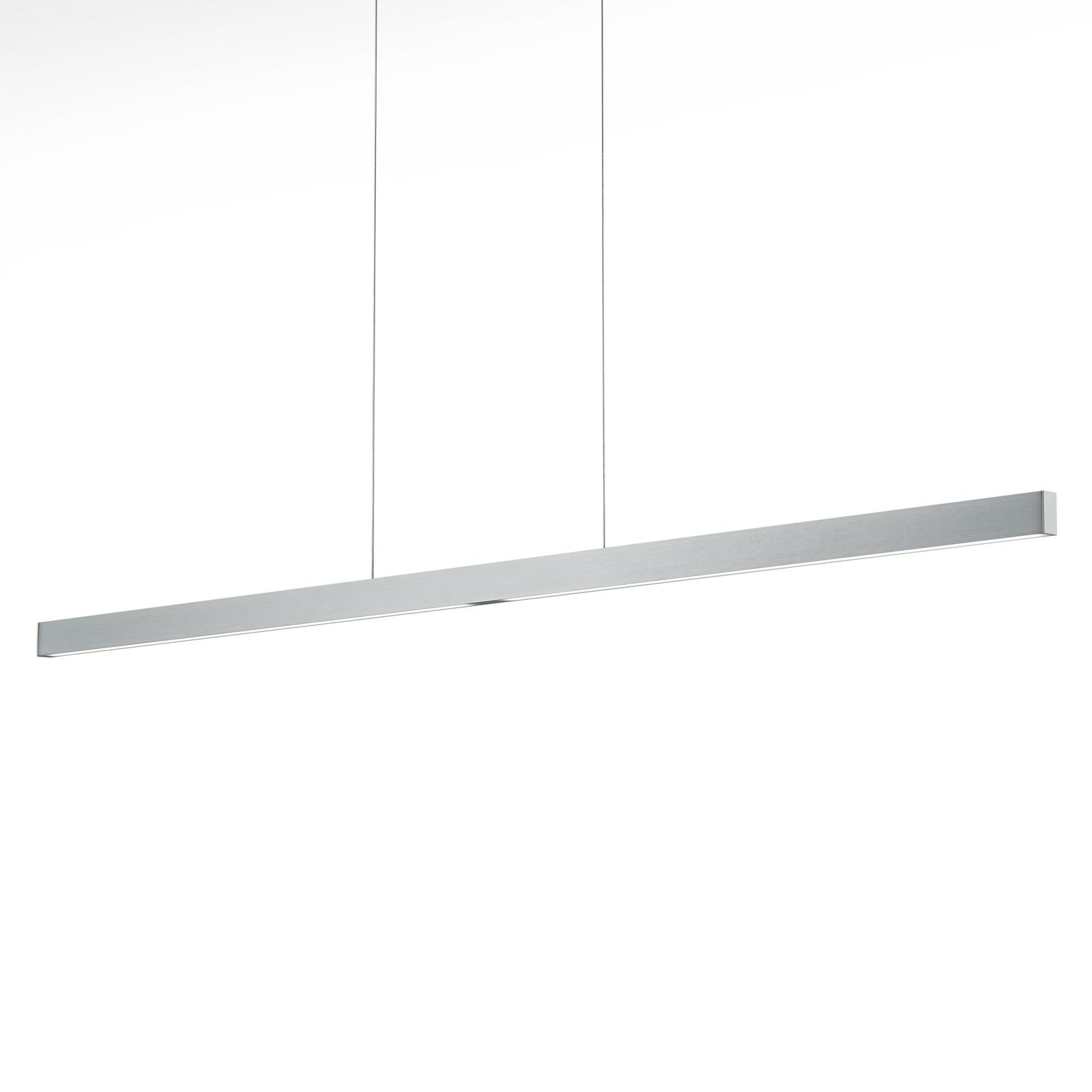 LED-Hängeleuchte Linn-L 128, nickel