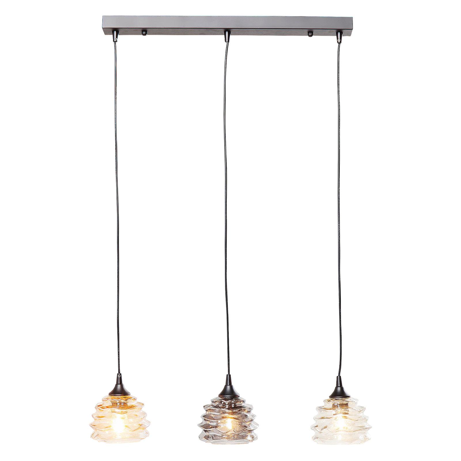 KARE Ruffle Dining Visible hanglamp lang 3-lamps