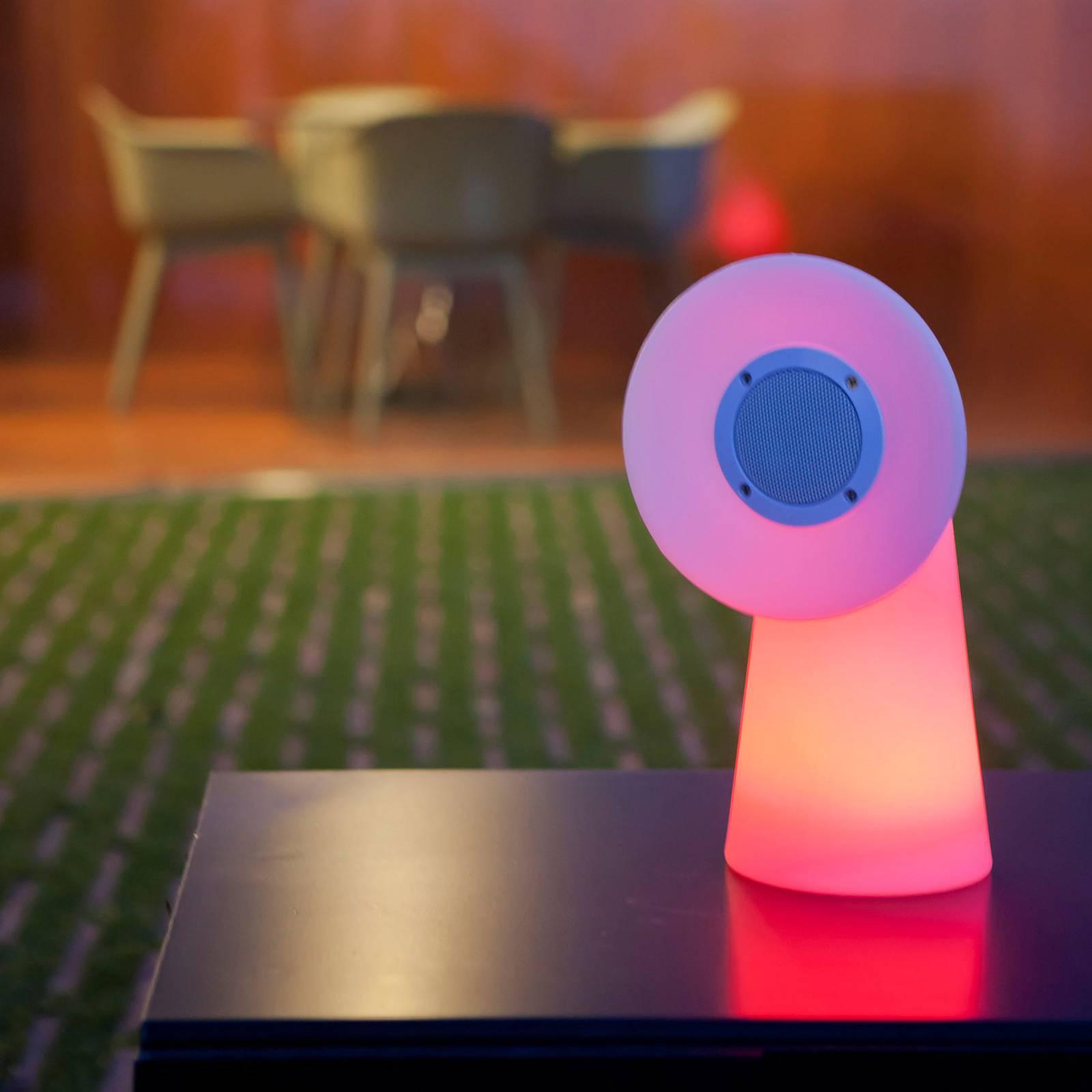 Newgarden Pipa LED tafellamp met luidspreker