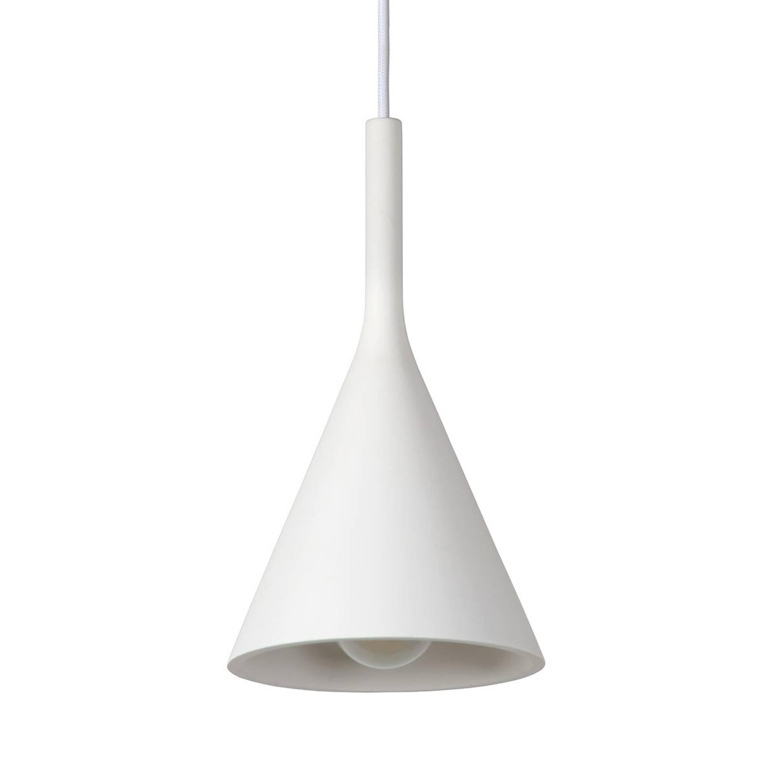 Kegelvormige gips-hanglamp Gipsy