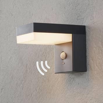 LED-solcellsutomhusvägglampa Chioma med sensor