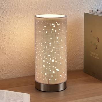 Tafellamp Umma met kleine uitsparingen, grijs