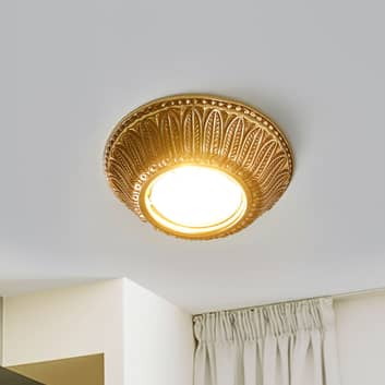 LED-inbyggnadsspot Liberty – guldpatinerad yta