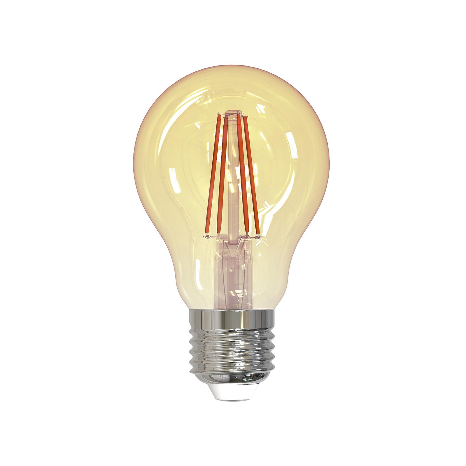 LED-filamentpære E27 4,5W 2000K 400lm gull