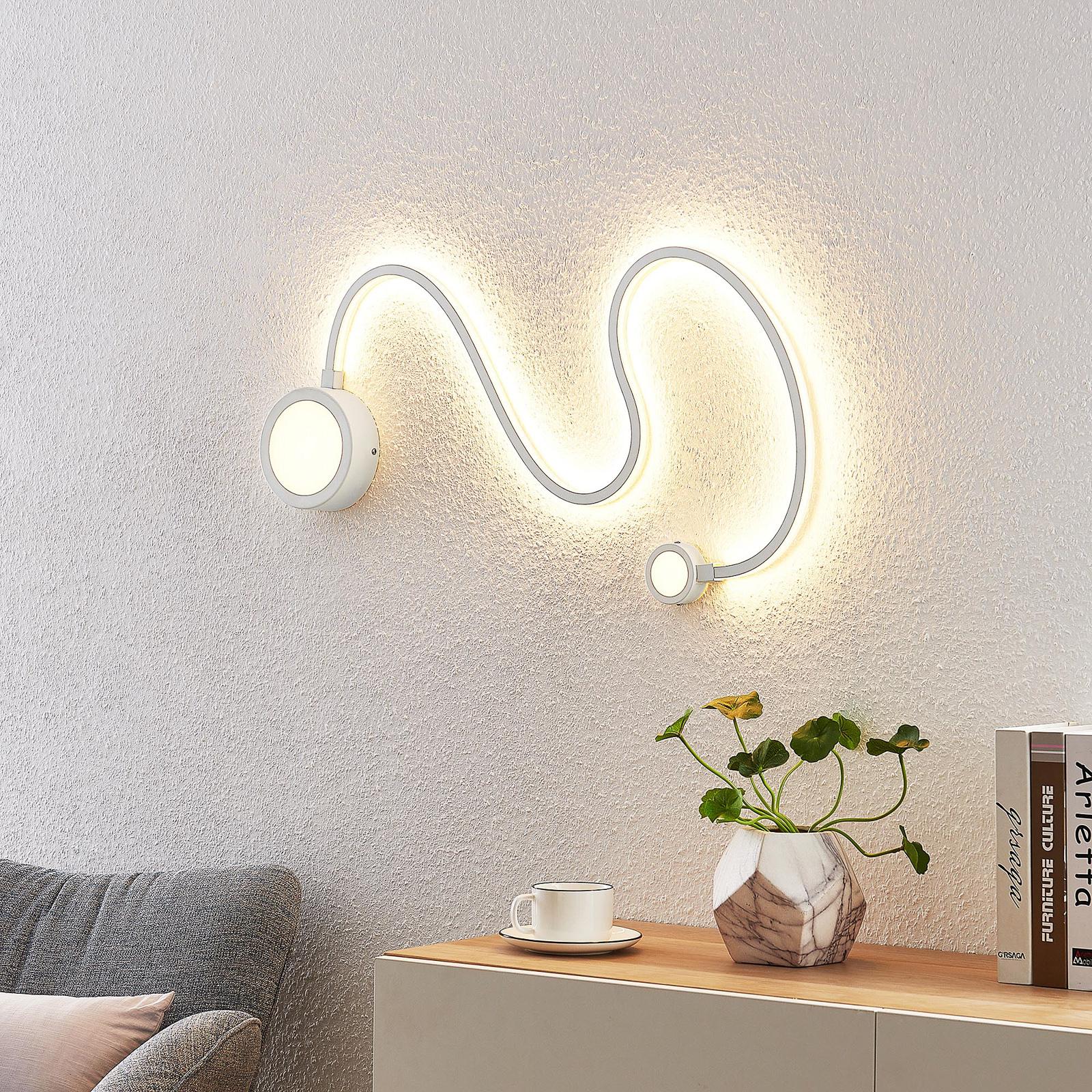 Lindby Rion LED-vegglampe, hvit