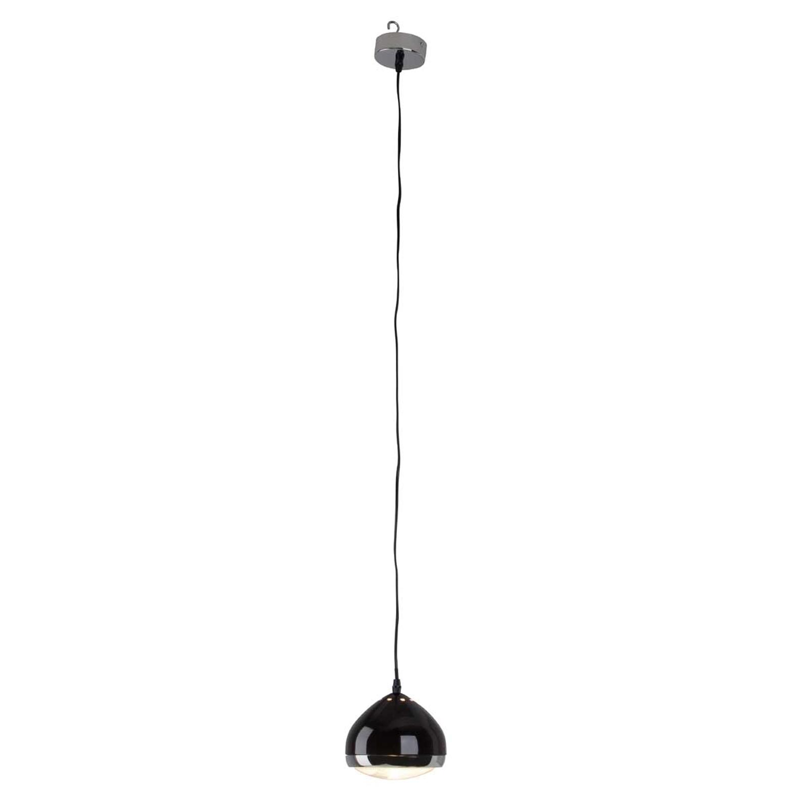 1-lichts pendellamp RIDER, zwart