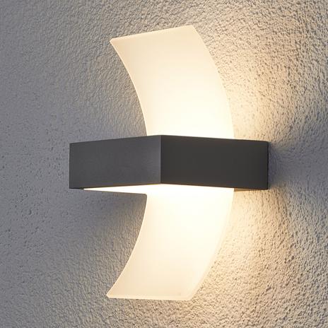 Gięta lampa zewnętrzna ścienna LED Skadi