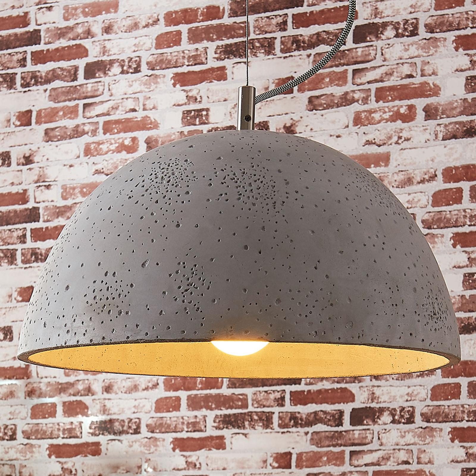 Jelin: lámpara colgante con pantalla de cemento