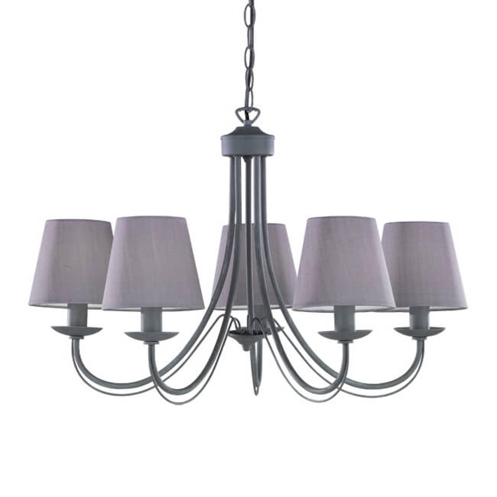 Lustr Cortez, šedý, 5 žárovky