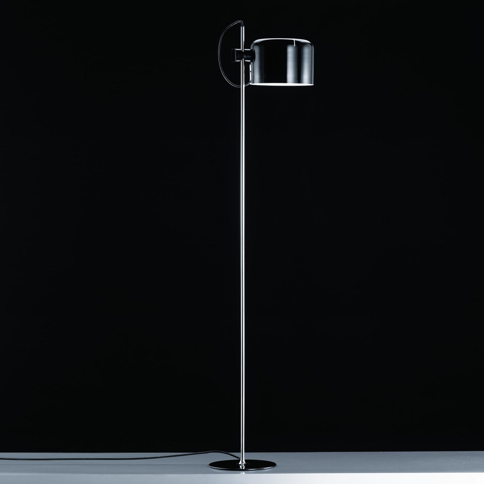 Ponadczasowa lampa stojąca COUPÉ, czarna