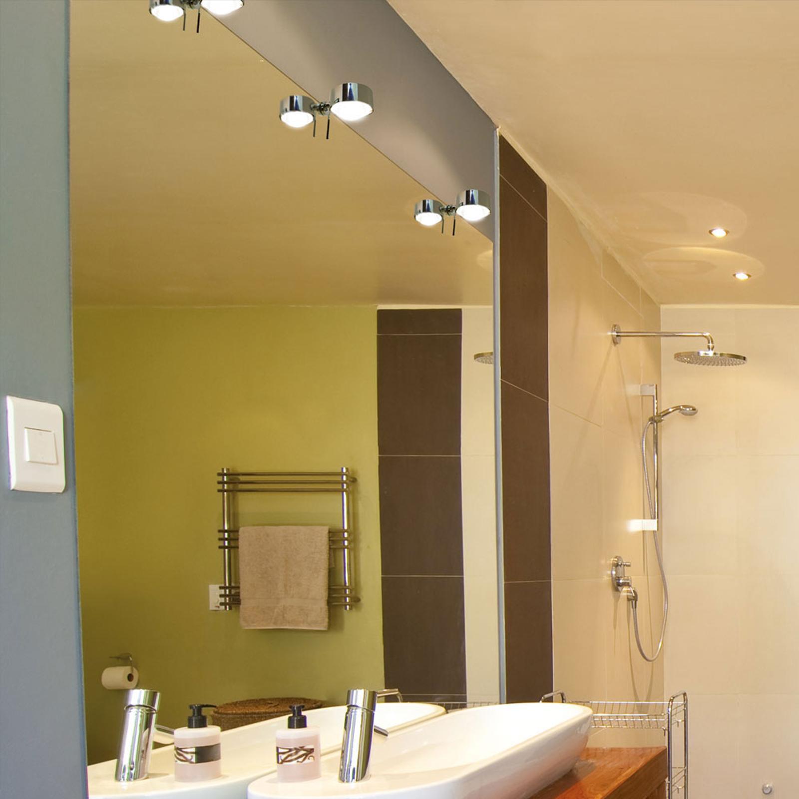 Lampada LED pinza specchio Puk Fix+, cromo