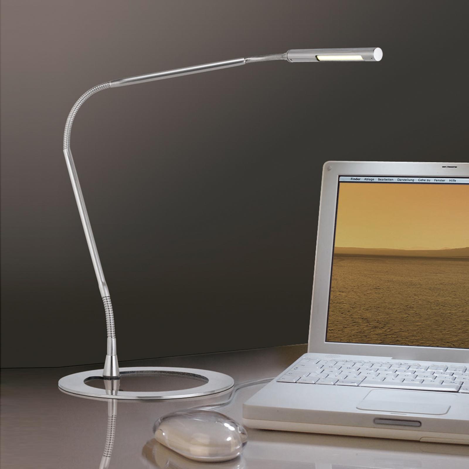 Slanke bureaulamp PLAZA, ijzer