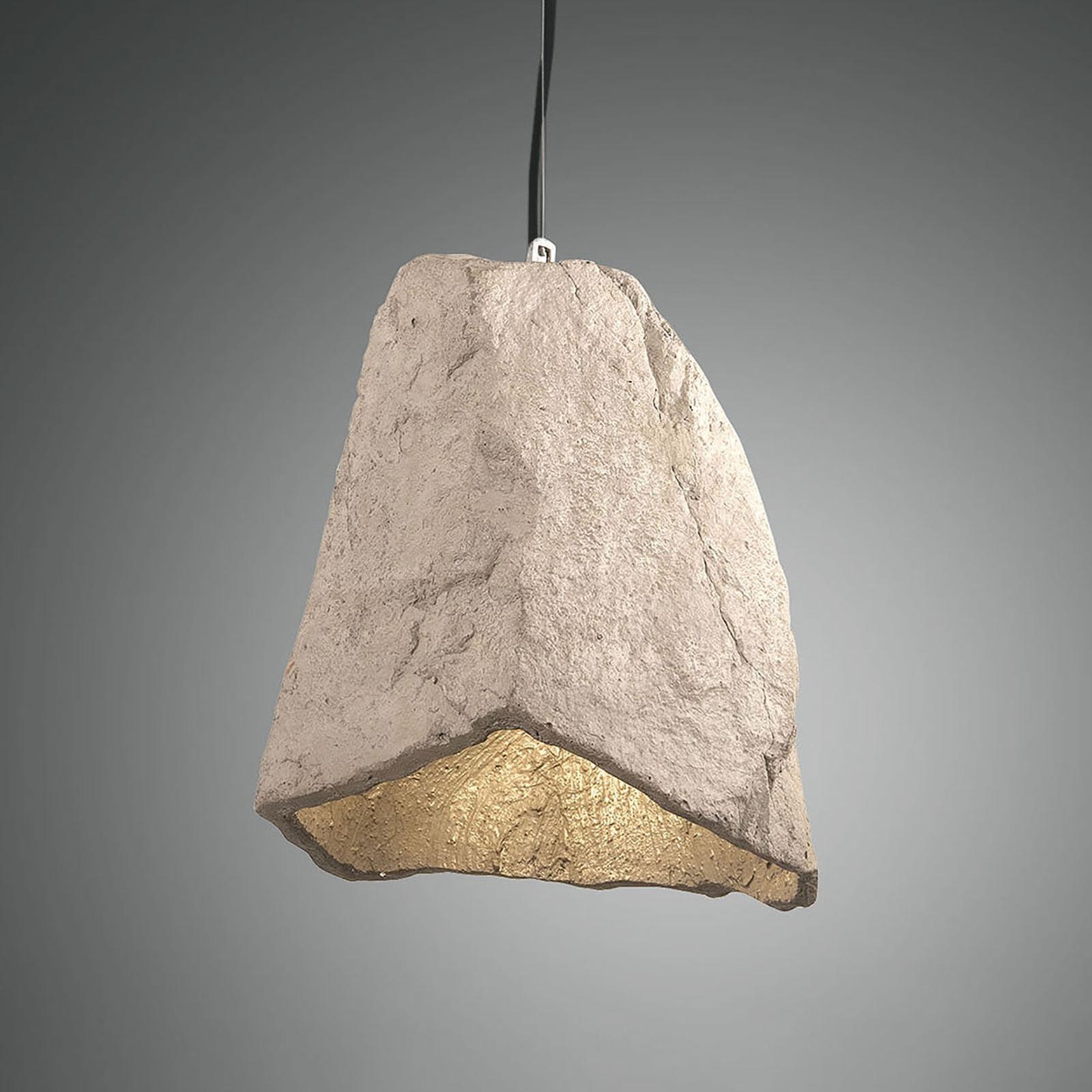 Pendelleuchte Rock in Stein-Optik