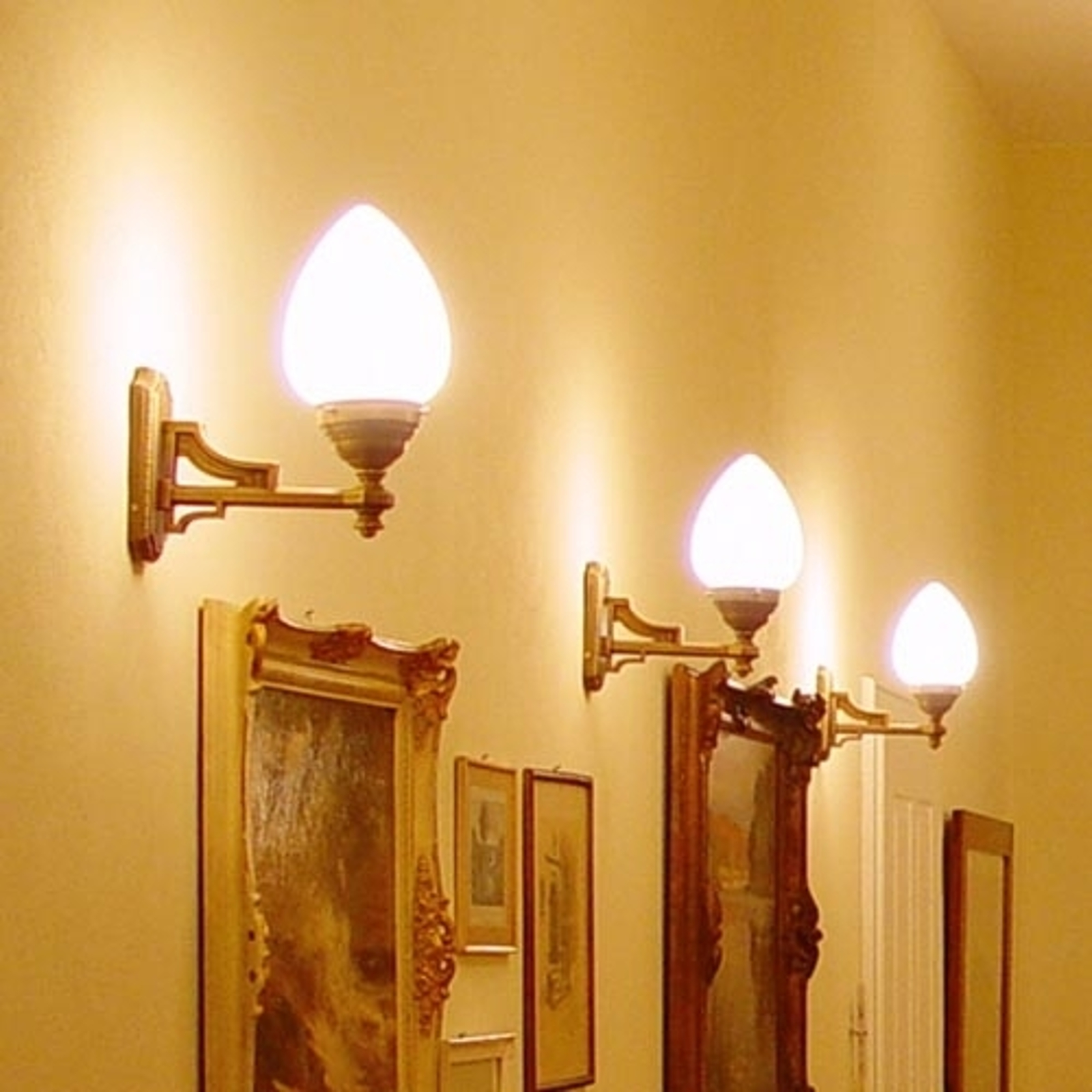 Lampada da parete Venezia in ottone