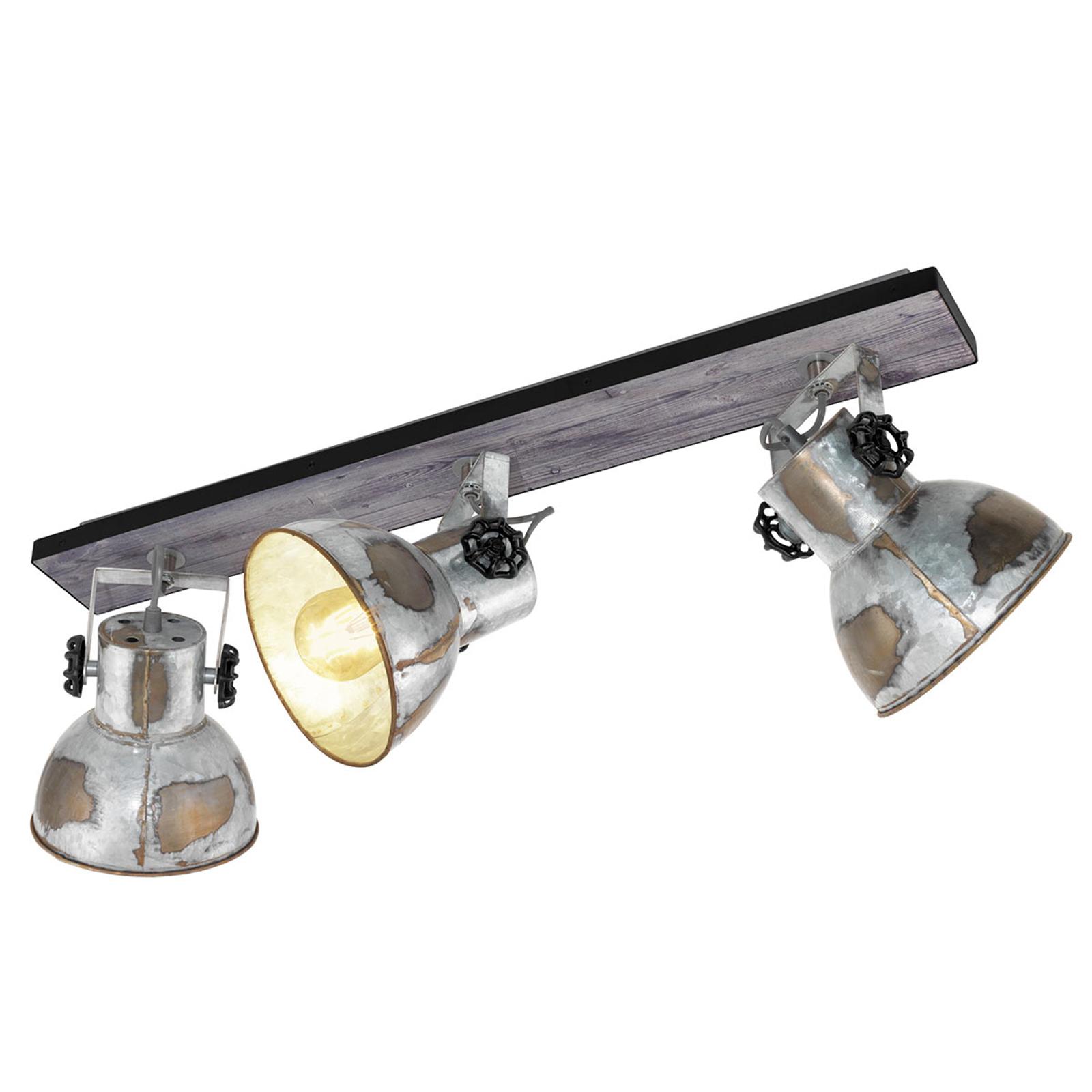 Loftlampe Barnstaple i industrilook 3 lyskilder