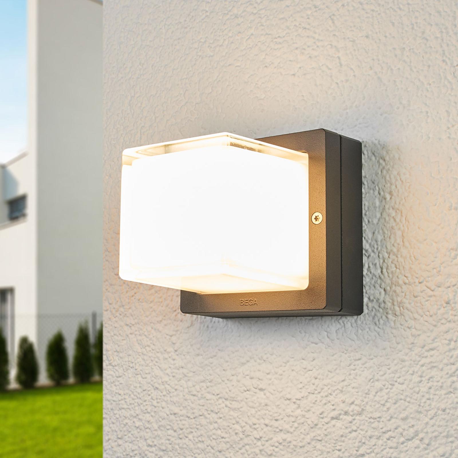 BEGA 22432K3 utendørs LED-vegglampe, grafitt 3000K