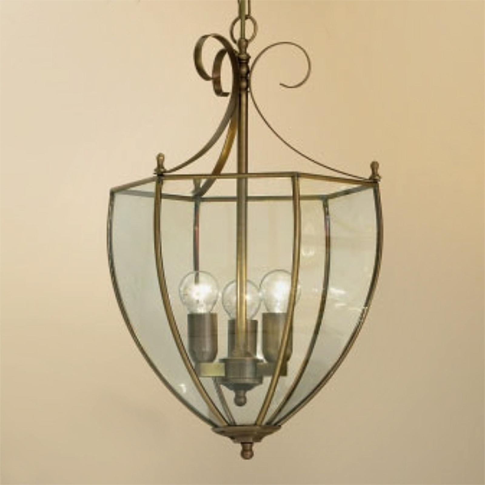 Elegante lámpara colgante Ópera en aspecto bronce