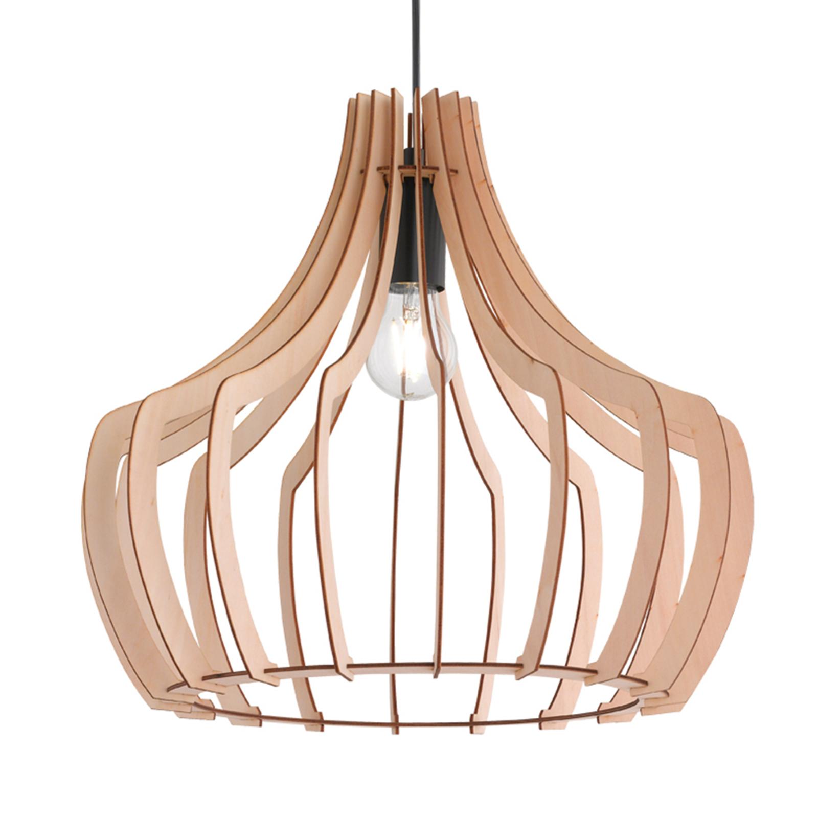 Wood - træ pendellampe i lamel design