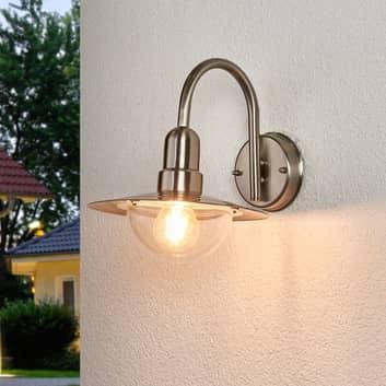 Klassisk LED utevegglampe Fedra av rustfritt stål