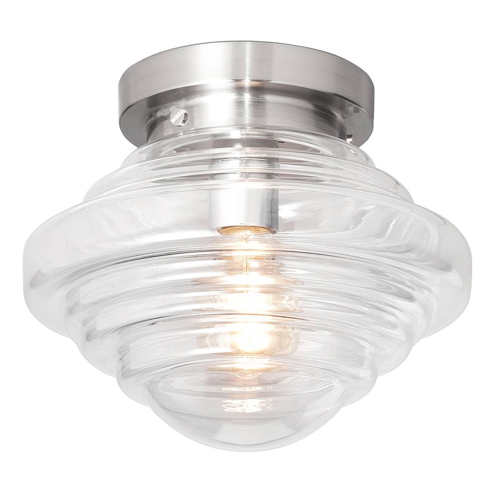 Glazen plafondlamp York met heldere kap