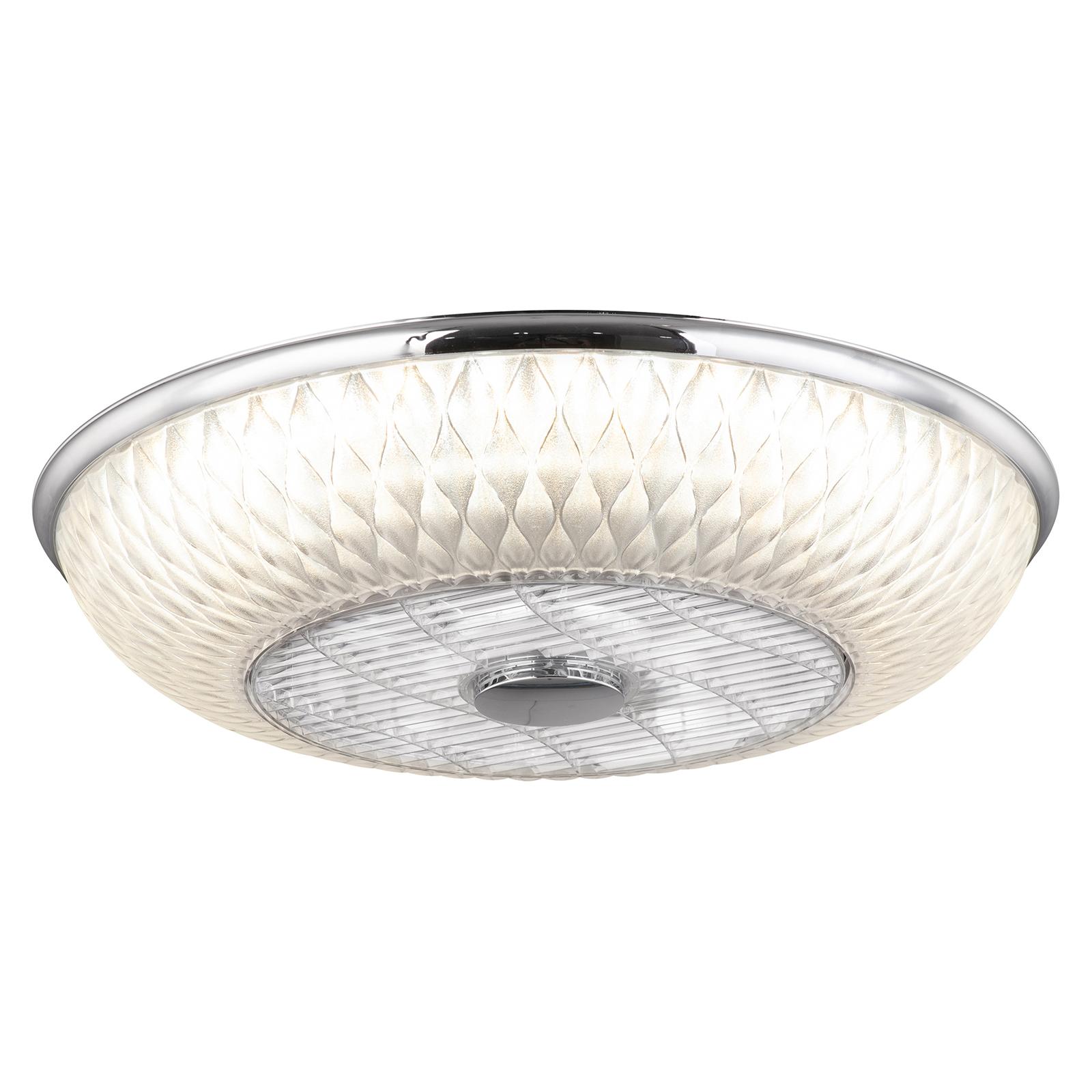 LED-Deckenventilator Rosario, weiß-chrom