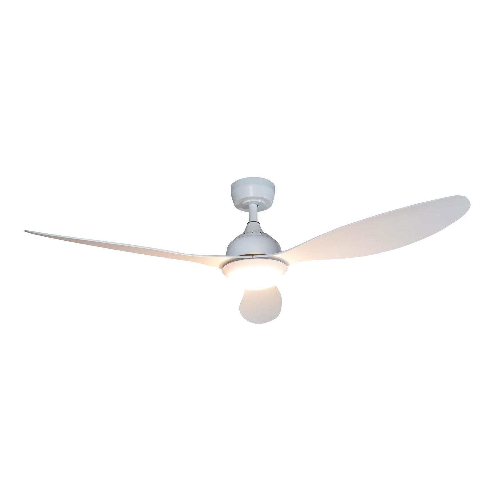 Lindby Merton LED-loftventilator, hvid