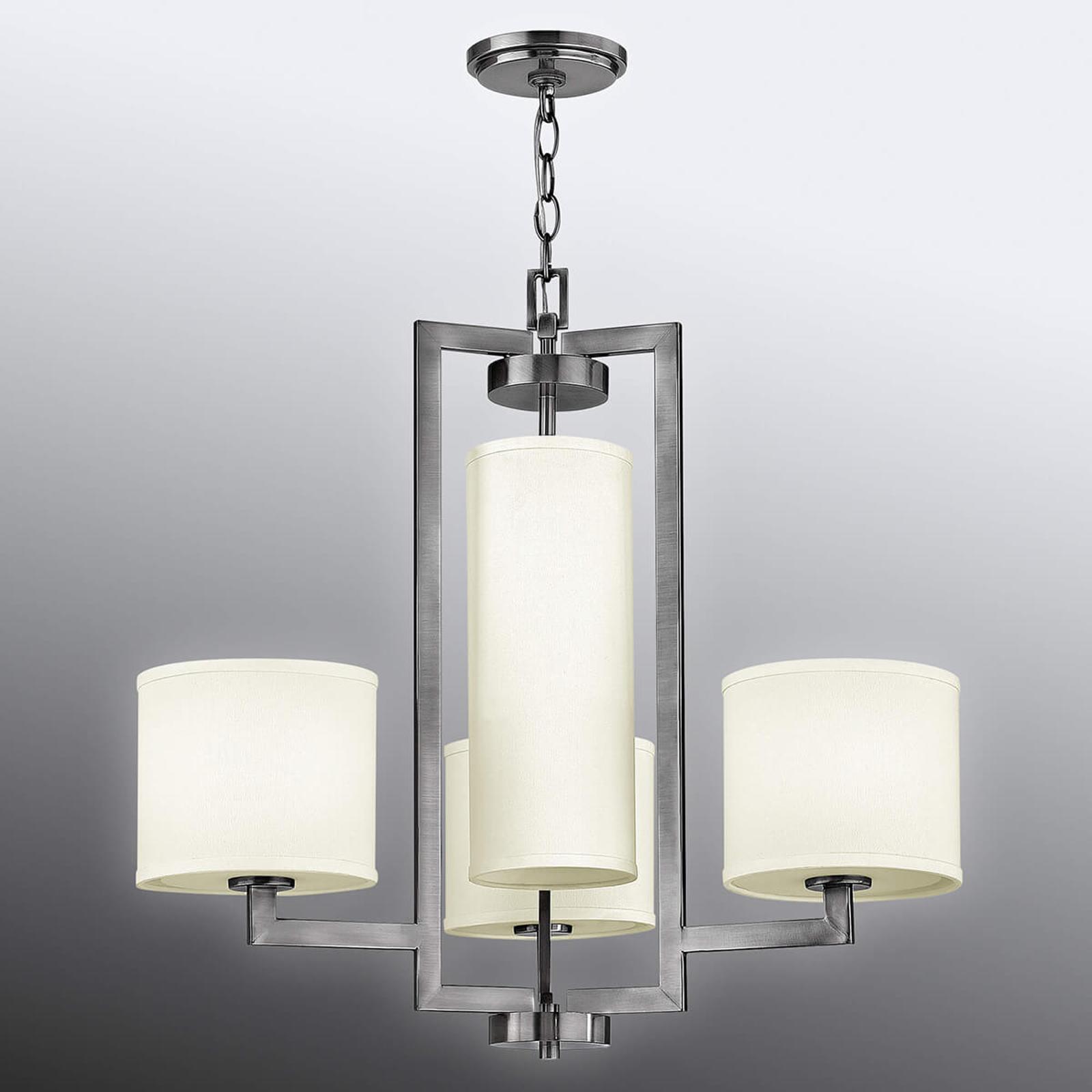 Lustre Hampton à quatre lampes