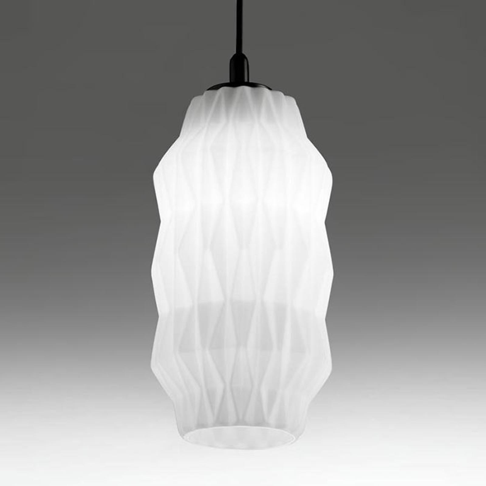 Élégante suspension en verre Origami blanche