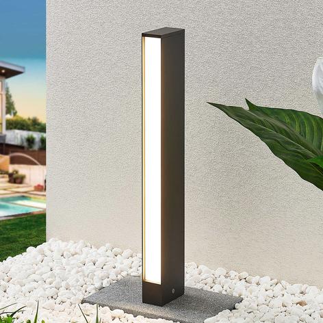 Słupek ogrodowy LED Lirka, ciemnoszary, 1-punktowy