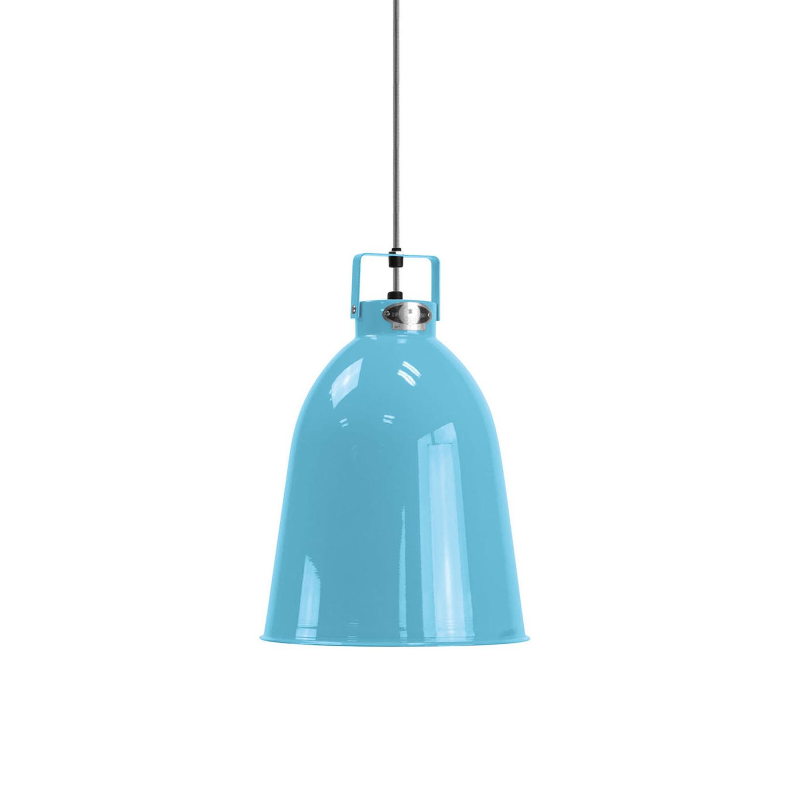 Jieldé Clément C240hanglamp lichtblauw glans Ø24cm