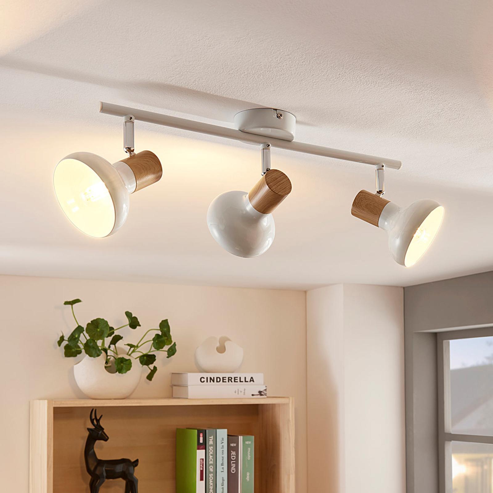 Plafonnier Fridolin à 3 lampes, en métal